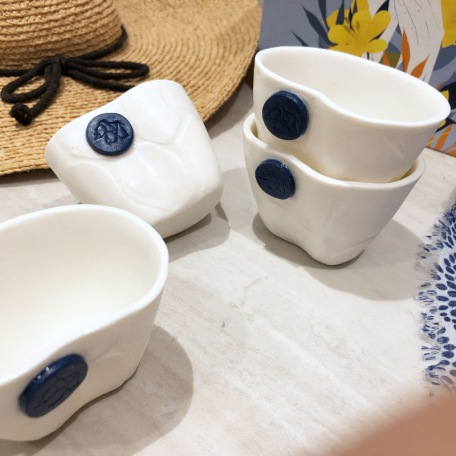 Tea / coffee cup - White porcelain - Craft creation - Pyrenees