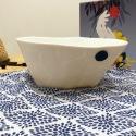 Drop-shaped salad bowl - White porcelain - Crafts • Banquise