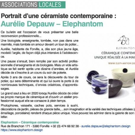 Discover Elephantom Design in the local Fernelmont newspaper