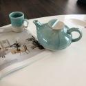 Tea service - Stoneware - Turquoise glaze - Craftsmanship • Lagoon