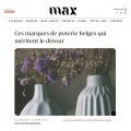 Retrouvez Elephantom, votre boutique en ligne de céramiques artisanales dans le magazine Max