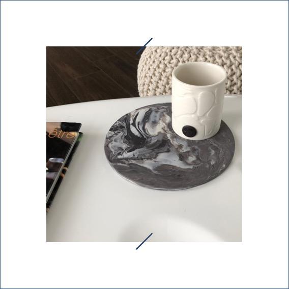 elephantom.Design photophore fait main porcelaine